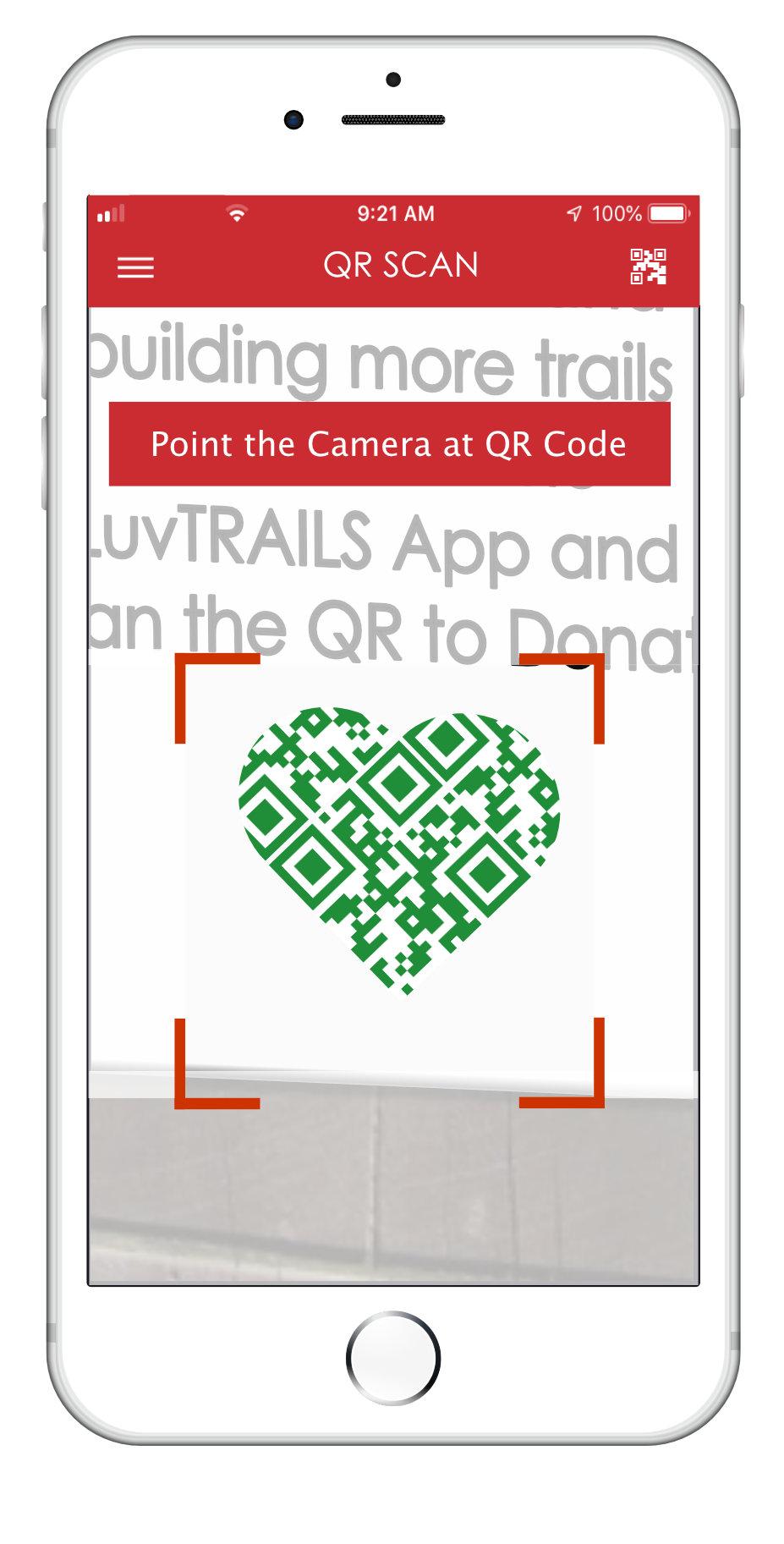 Luvtrails QR code scan